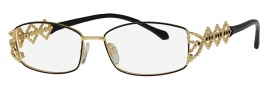 Caviar 5586 Eyeglasses Eyeglasses - 24 Black / Gold Clear Crystal Stones