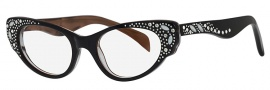 Caviar 5591 Eyeglasses Eyeglasses - 24 Black / Clear Crystal Stones