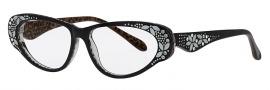 Caviar 5592 Eyeglasses Eyeglasses - 24 Black / Clear Crystal Stones
