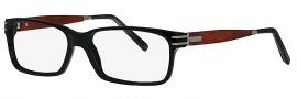 Caviar 1510 Eyeglasses Eyeglasses - 24 Black / Silver w/ Bubinga Wood Temples