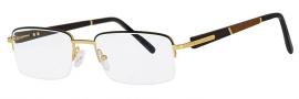 Caviar 1511 Eyeglasses Eyeglasses - 21 Gold / Bubinga / Ebony Wood Temples