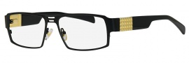 Caviar 2612 Eyeglasses Eyeglasses - 24 Black / Gold Trim