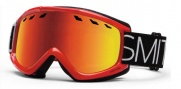 Smith Optics Sentry Snow Goggles Goggles - Fire Blockhead / Red Sol-X Lens