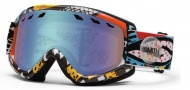 Smith Optics Sentry Snow Goggles Goggles - White Carlton / Blue Sensor Mirror Lens