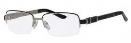 Caviar 4866 Eyeglasses Eyeglasses - 24 Black / Silver / Black Leather