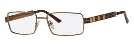 Caviar 4868 Eyeglasses Eyeglasses - 16 Brown / Gold / Brown Leather