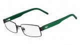 Lacoste L2165 Eyeglasses Eyeglasses - 033 Gunmetal / Green Temple