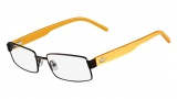 Lacoste L2165 Eyeglasses Eyeglasses - 210 Brown / Yellow Temple