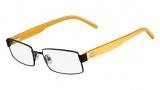 Lacoste L2165 Eyeglasses Eyeglasses - 210 Brown / Yellow Temple