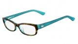 Lacoste L2673 Eyeglasses Eyeglasses - 220 Green / Havana