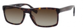Hugo Boss 0450/P/S Sunglasses Sunglasses - 0086 Dark Havana (LA Brown Polarized Lens)