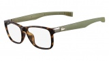 Lacoste L2676 Eyeglasses Eyeglasses - 214 Havana / Khaki Temples