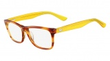 Lacoste L2686 Eyeglasses Eyeglasses - 210 Brown Marble / Yellow Temple