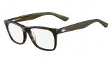 Lacoste L2686 Eyeglasses Eyeglasses - 214 Havana / Khaki Temple