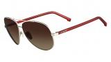 Lacoste L145S Sunglasses Sunglasses - 045 Silver / Red