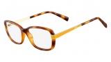 Fendi F1038 Eyeglasses Eyeglasses - 725 Light Havana / Yellow Temple