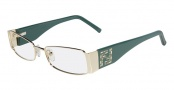 Fendi F923R Eyeglasses Eyeglasses - 758 Light Gold / Teal