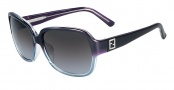 Fendi FS 5232R Sunglasses Sunglasses - 468 Gradient Violet / Blue