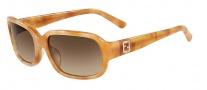 Fendi FS 5233R Sunglasses Sunglasses - 261 Striped Honey