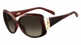Fendi FS 5290 Sunglasses Sunglasses - 604 Striped Burgundy