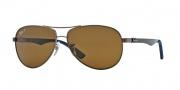 Ray Ban RB8313 Sunglasses Sunglasses - 014/N6 Brown / Crystal Polar Brown