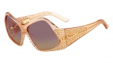 Fendi FS 5341 Sunglasses Sunglasses - 749 Peach / Light Smoked Topaz