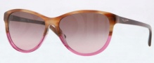 DKNY DY4104 Sunglasses Sunglasses - 357614 Brown Horn / Brown Gradient Pink