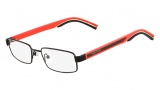 Nautica N6374 Eyeglasses Eyeglasses - 743 Shiny Black / Red