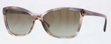 DKNY DY4105 Sunglasses Sunglasses - 359113 Spotted Brown / Brown Gradient