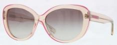 DKNY DY4107 Sunglasses Sunglasses - 360411 Transparent Beige / Grey Gradient