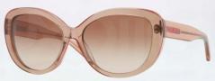 DKNY DY4107 Sunglasses Sunglasses - 360513 Peach / Brown Gradient