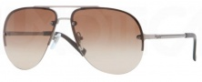 DKNY DY5074 Sunglasses Sunglasses - 120813 Matte Gray / Brown Gradient