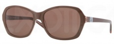 DKNY DY4094 Sunglasses Sunglasses - 357173 Top Brown on Brown Transparent / Brown