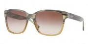 DKNY DY4096 Sunglasses Sunglasses - 357513 Green Horn on Violet Grad / Brown Gradient