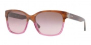 DKNY DY4096 Sunglasses Sunglasses - 357614 Brown Horn / Brown Gradient Pink