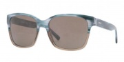 DKNY DY4096 Sunglasses Sunglasses - 357773 Azure Horn / Brown