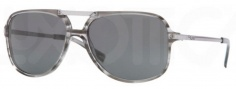DKNY DY4099 Sunglasses Sunglasses - 344987 Striped Gray / Grey