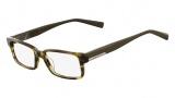 Nautica N8075 Eyeglasses Eyeglasses - 316 Olive Horn