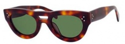 Celine CL 41030/S Sunglasses Sunglasses - 005L Havana / Green Lens