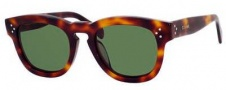 Celine CL 41031/S Sunglasses Sunglasses - 005L Havana / Green Lens