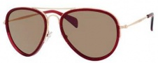 Celine CL 41032/S Sunglasses Sunglasses - 0GH4 Burgundy / Grey Lens