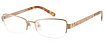 Guess by Marciano GM140 Eyeglasses Eyeglasses - GLD: Satin Warm Gold