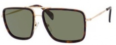 Celine CL 41041/S Sunglasses Sunglasses - 03FU Gold / Dark Havana / Grey Lens