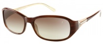 Guess by Marciano GM645 Sunglasses Sunglasses - AMB-34: Amber Cream