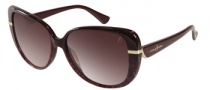 Guess by Marciano GM654 Sunglasses Sunglasses - BU-67: Burgundy White