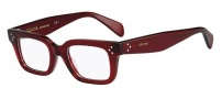 Celine CL 41344 Eyeglasses Eyeglasses - 0CR3 Transparent Red