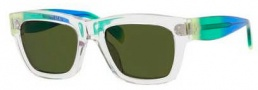 Celine CL 41732/S Sunglasses Sunglasses - 097Q Crystal / Yellow Rain / Green Lens