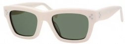 Celine CL 41732/S Sunglasses Sunglasses - 0P0B Ivory / Green Lens