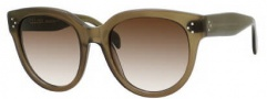 Celine CL 41755/S Sunglasses Sunglasses - 0QP4 Military Green / Brown Gray Gradient Lens