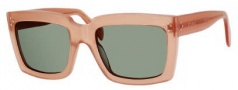 Celine CL 41800/S Sunglasses Sunglasses - 0N8O Antique Rose / Green Lens